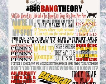 The Big Bang Theory TV Show Quotes Plaque Birthday Gift Sheldon Penny Leonard Bernadette Raj Howard Amy Science Bazinga Present