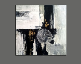 ABSTRACT PAINTING -  Modern Home Wall Decor Painting Canvas Art ( 50x50cm) (20x20inch)