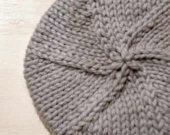 Baby Beret. Wool. Hand Knit. Australian. Modern. Soft. Baby Slouchy Beanie. Winter Hat. Baby Beanie. Slouchy Beret. READY TO SHIP