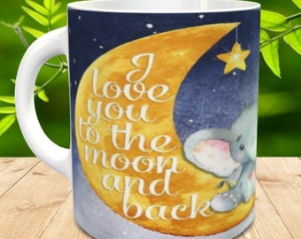 Elephant Love you to the moon and back