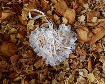 Rose Lace Heart Sachet
