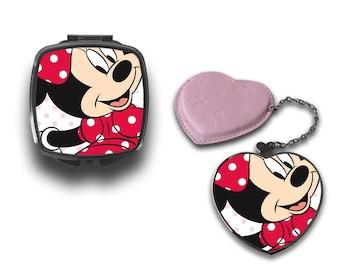 Minnie Mouse Pink Dress & Ribbon Compact Makeup Handbag Mirror CM101