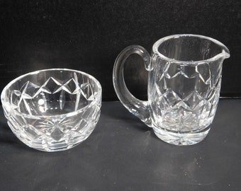 Waterford Creamer and Sugar Bowl