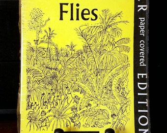 William Golding, Lord of the Flies, Rare Faber & Faber Softcover Book (1958)