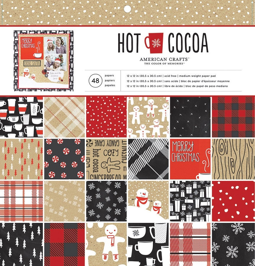 American crafts hot cocoa paper collection hot cocoa for Craft paper card stock