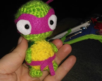 Hand Crocheted baby Ninja Turtle