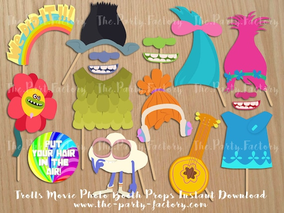 Troll Printable Photo Booth Props