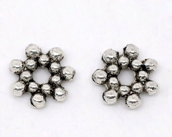 Antique Silver Tone Retro Style Spacer Beads (1899)