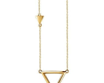 Three Makes a Tribe Triangle Necklace