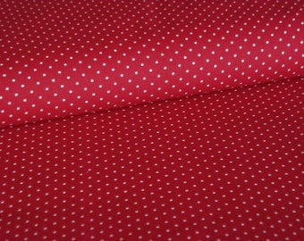 Bordeaux cotton fabric with white dots