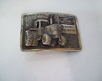 Vintage Ford Tractor Equipment Farming Farmer Agriculture Belt Buckle FREE SHIPPING