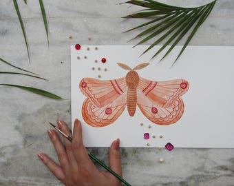 Butterfly Watercolor Illustration Art Print