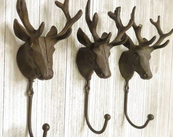 Deer Head, Deer Wall Hanging, Bathroom Hooks, Bathroom Wall Decor, Wall Hooks, Animal Hooks, Deer Wall Decor, Fireplace Mantle Decor, Towel