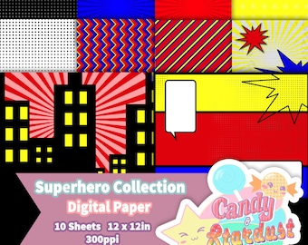 Digital Paper: Superhero Collection