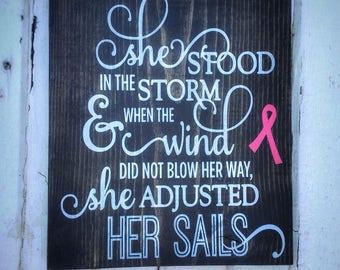 She Stood in the Storm, Cancer Survivor, Cancer Fighter, Breast Cancer, Survivor Gift, Thyroid Cancer, Stroke Survivor, Cancer Encouragement
