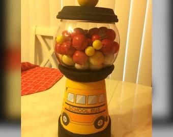 Bus gum ball machine