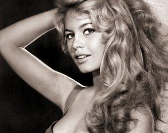 Brigitte Bardot Portrait Photo Art Poster Print