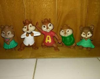 Lot of five Alvin and the Chipmunks Figures from McDonald's