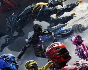 Power Rangers 2017 movie poster 11x17