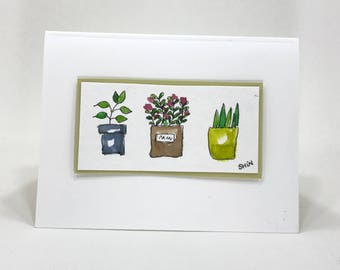 Hand drawn, Water colored, Hand made card for any occasion