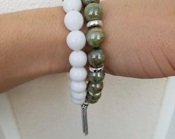 Handmade Beaded Bracelet Short Stack