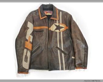 Jacket-jacket style 'race biker' vintage * good condition * size + - M / L