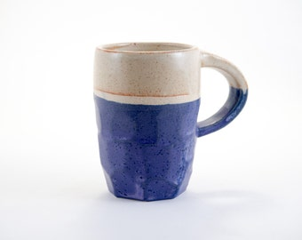 Geode Mug, purple faceted with high or low handle