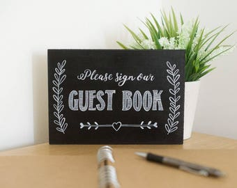Chalkboard Wedding Sign - Please Sign Our Guest Book