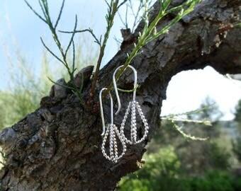 Silver wedding earrings, Drop wedding earrings, Silver bridal earrings, Silver tear earrings, Wedding earrings Bride earrings Wedding jewels