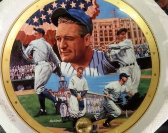 Lou Gehrig The Iron Horse Royal Doulton Franklin Mint Collectable Plate