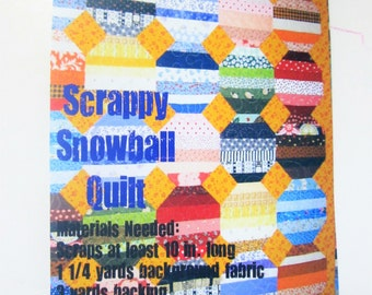 Scrappy Snowall Quilt Pattern - Effie Mae and Co.