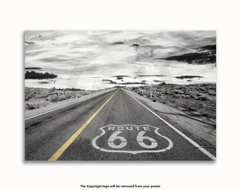 Route 66 Highway To The Future Poster