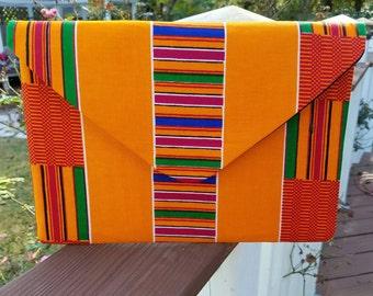 Kente Cloth Envelope Clutch