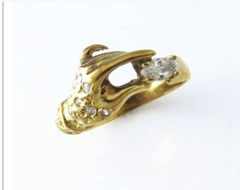 18 K gold rare designer vintage ring