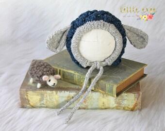 Needle Felted Animal, Newborn Lamb Hat, Baby Lamb Hat, Felted Sheep, Newborn Boy Prop, Newborn Photography Props