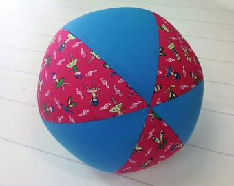 Balloon Ball Fabric, Balloon Ball Cover, Portable Ball, Travel Ball, Inflatable, Sensory, Special Needs, Ballerina, Aqua, Pink, Eumundi Kids