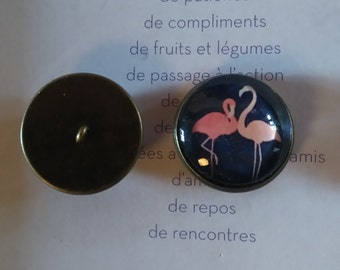 2 cabochons for button sewing