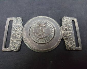Civil War Confederate South Carolina 2 Piece Sword Belt Plate Aged Replica
