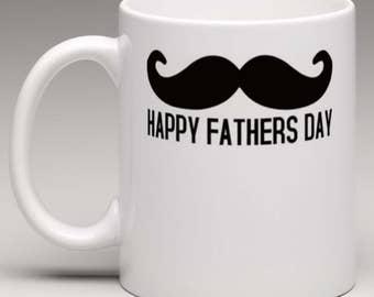 Moustache  Mug -  Fathers Day Novelty Mug