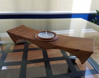 Figured, Spalted Maple Candle Holder