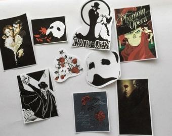 The Phantom of The Opera Die Cut Sticker Flakes