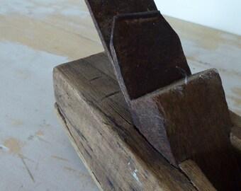 Vintage French Woodworking Plane,Rocking Plane, Rabot, Carpentry Tool, Rustic, Hardwood 0517044-097