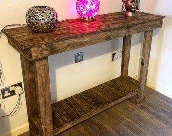 pallet side table, side table, wooden side table, pallet console table, console table, pallet hall table, hall table