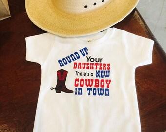 New cowboy onesie