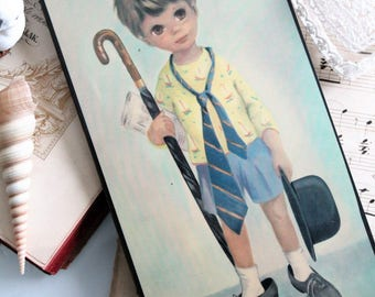Vintage frame, decoration children room, poulbot, children room decor, shabby decor,