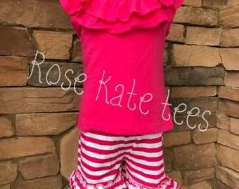 Double Ruffle shorts set