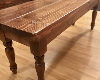 Country Pine Dining Bench