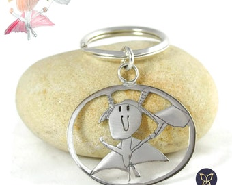 """Keychain-Silver """"The world through your eyes"""""""