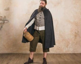 """Cloak with hood, a part of fantasy-style costume """"Hobbit"""" by Steel Mastery™"""