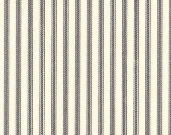 "22"" King Tailored Bedskirt, Brindle Gray Ticking Stripe"